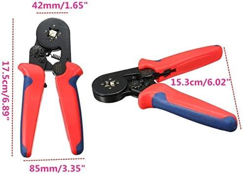 YASE-king 8 6-4A 0.25-6mm²23-10 Ferrule Crimper Plier Self Adjusting Ratcheting Pliers Tool