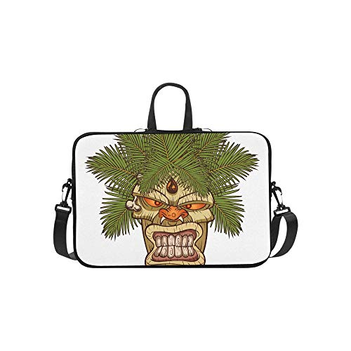 The Symbol of Primitive Tribe Totem Pattern Briefcase Laptop Bag Messenger Shoulder Work Bag Crossbody Handbag for Business Travelling ()