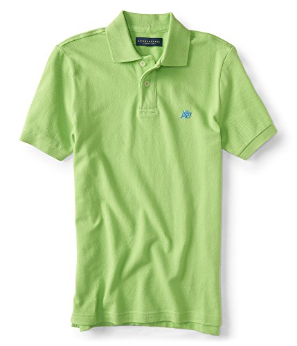 Aeropostale Mens Solid Shirt Limelite