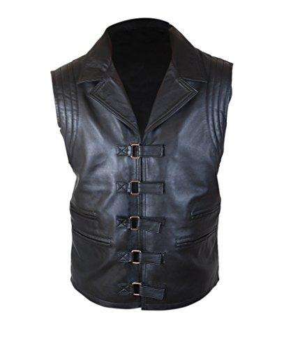 Van Helsing Costume Adults (F&H Men's Hugh Jackman Van Helsing Genuine Leather Vest L Black)