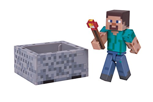 Minecraft Steve with Minecart Figure Pack]()