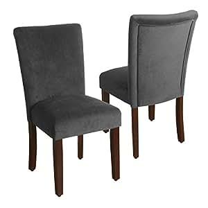 Amazon Com Homepop Velvet 2 Pack Parson Dining Chair