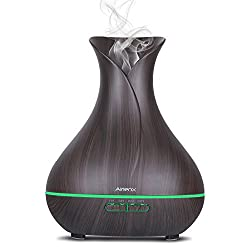 AirienX 400ml Cool Mist Humidifier Ultrasonic Aroma Essential Oil Diffuser for Office Home Bedroom Living Room Study Yoga Spa