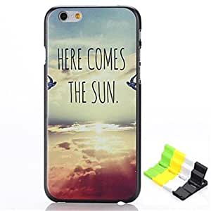 ZL Sunrise Birds Pattern Hard Case and Phone Holder for iPhone 6 Plus