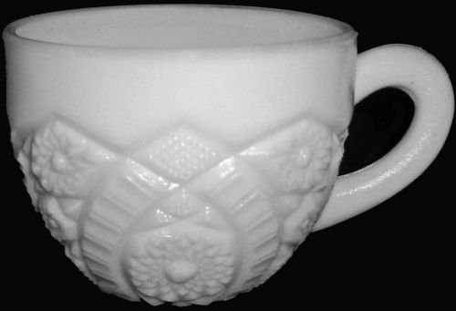 Vintage Mid Century Thacher Glass Company Mckee Division Milkglass Concord Pattern Punch Tea Cup