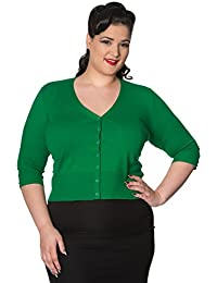 Banned Overload PLUS SIZE Vintage Retro Womens Cropped Cardigan
