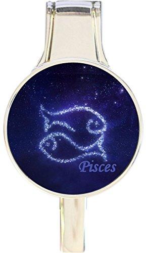 Pisces Fish Zodiac Stars Everything Purse Hanger Handbag Hook Retractable Folding