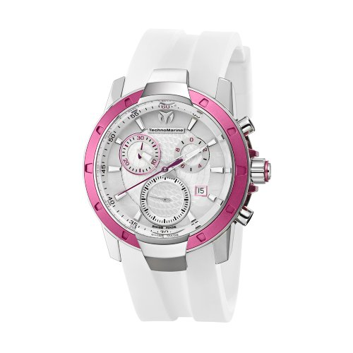 TechnoMarine Women's 610001 UF6 Chronograph White MOP Dial (Ladies Diamond White Mop Dial)