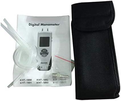 HT-1890 Medidor Pantalla LCD de Presi/ón Digital Man/ómetro de aire Handheld,blanco y gris