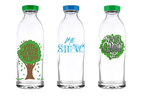 Faucet Face Gift Pack - 3 Limited Edition Reusable Glass Water Bottles, 14.4 ()