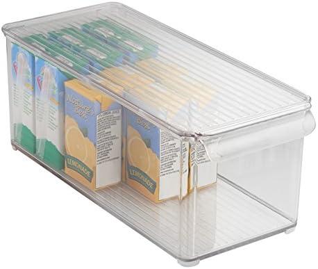 mDesign Caja organizadora transparente - Guardatodo para heladera ...