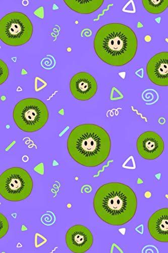 Happy Kiwis: Smiling Fruit Notebook 120 Page 6 x 9