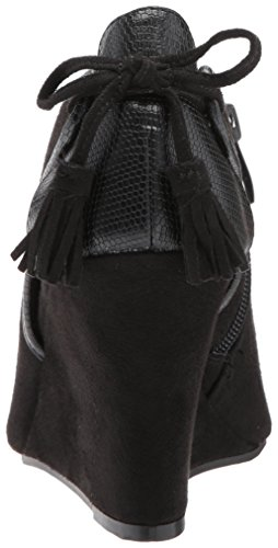 Cl By Chinese Laundry Mujeres Brinley Cuña Bomba Black Suede-snake