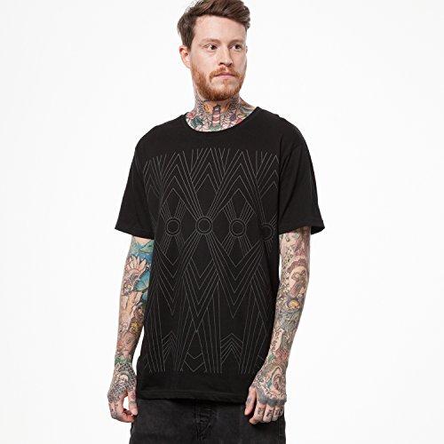 ThokkThokk Tapestry T-Shirt black/black aus 100% Biobaumwolle // GOTS und Fairtrade zertifiziert