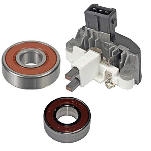 Alternator Kit; Regulator, Bearings, Brushes for 1997-1998 BMW 540, 1995-1998 740 750, 1996-1997 840 850 with 140 Amp Bosch 0123515001, 0123515002, 0123515010-13729RK
