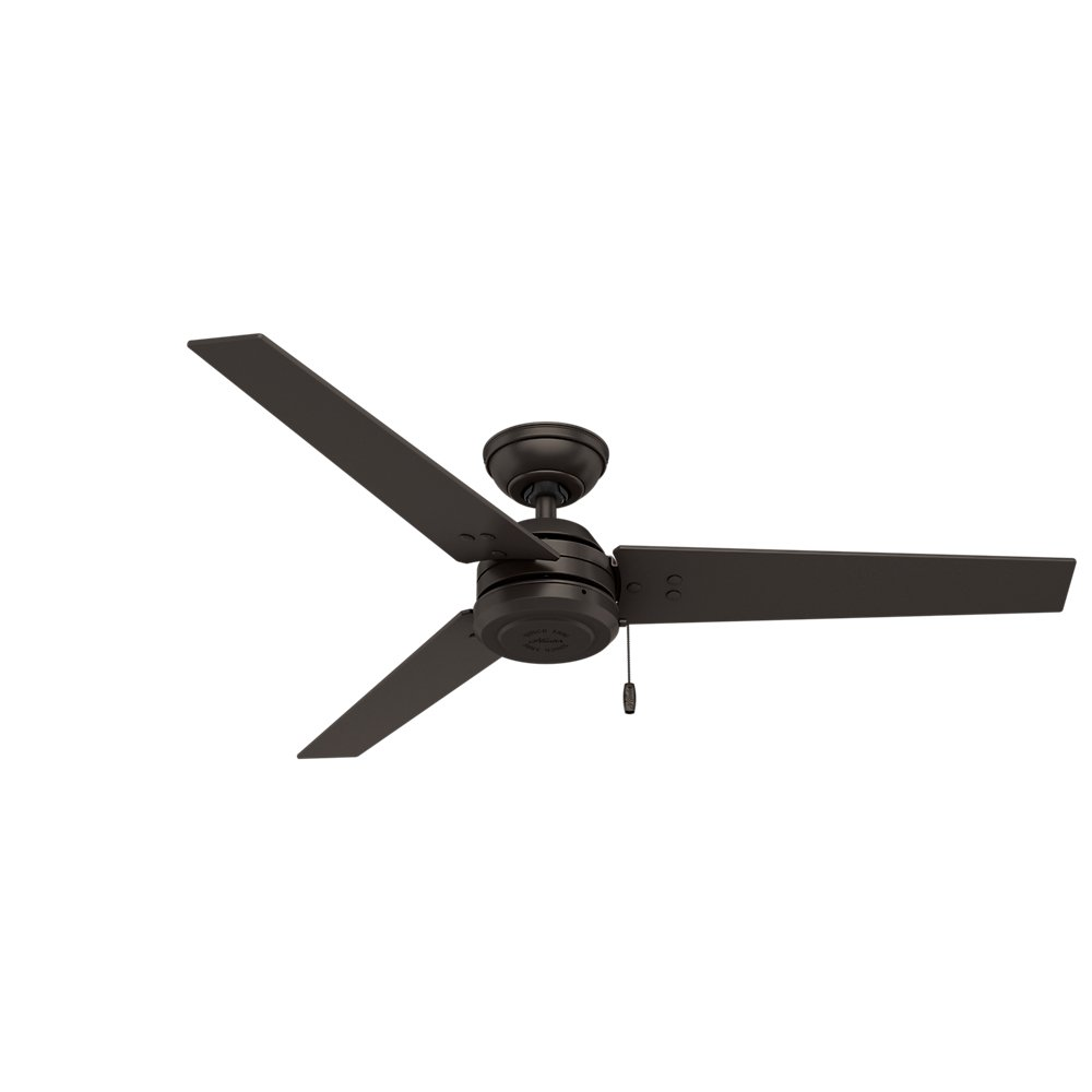 Hunter 59262 Contemporary Cassius Matte Silver Ceiling Fan, 52