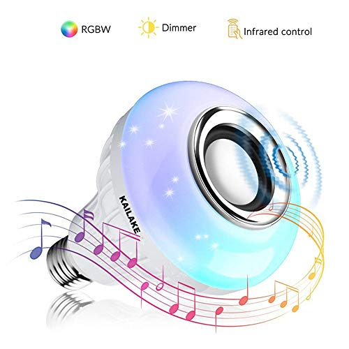KAILAKE LED Wireless Light Bulb Speaker-RGB Sm Music 2018 New Design Instagram 5000+Likes with Stereo Audio Smart 7W E27 Changing Lam Lamp+24 Keys Remote Control by KAILAKE (Image #8)'