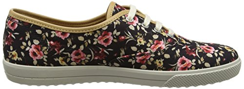 Nero Mabel Donna Oxford Floral 086 Black Hotter Scarpe Stringate wXgqgOP