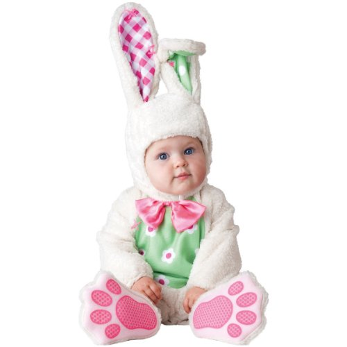 InCharacter Baby's Baby Bunny Costume, White, Small