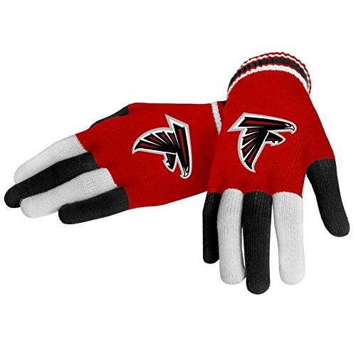 FOCO NFL Atlanta Falcons Multi Color Team Knit Glove, Team Color, One Size