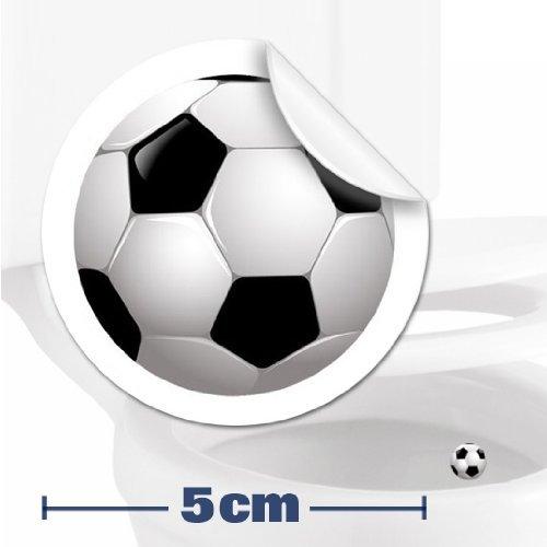 2 x pegatinas con diana de pelota de fútbol (5cm) Ayuda para que los niños aprender a ir al baño. Divertido entrenamiento para usar el inodoro en el cuarto de baño. Toilet Marksman TM-FOOTBALL-2