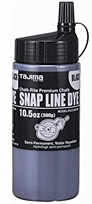Tajima PLC3-BK300 Chalk-Rite 10.5-Ounce Snap Line Black Powder Dye by Tajima from Tajima Tools