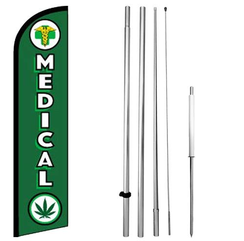 Medical - Windless Swooper Flag Kit Feather Banner Sign - gf-h