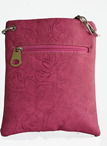 purse crossbody messenger floral embossed Pink western stitched boot small URwcX0q