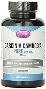 I-HEALTH Garcinia Cambogia 400mg, 60 Caps, 1 Count