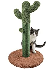 """Catinsider 25.6"""" Cactus Cat Scratching Post with Dangling Ball Brown"""