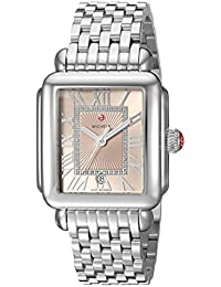 MICHELE Women's 'Deco Madison' Swiss Quartz Stainless Steel Casual Watch, Color:Silver-Toned
