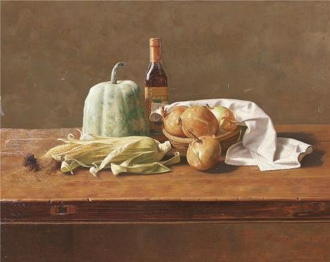 'Still Life With Vegetables On The Table' Oil Painting, 16x20 Inch / 41x51 Cm ,printed On High Quality Polyster Canvas ,this Amazing Art Decorative Canvas Prints Is Perfectly Suitalbe For Dining Room Decor And Home Decoration And Gifts