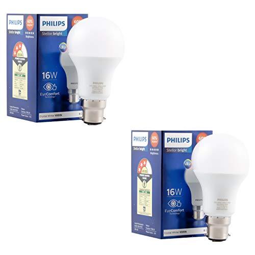 PHILIPS 16W B22 LED Bulb, Pack of 2, (929001818814_2)