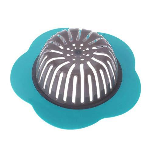 Ameglia Bath Drain Shower Hair Catcher Tub Strainer Cover Sink Trap Basin Stopper Filter (Color - Blue) ()