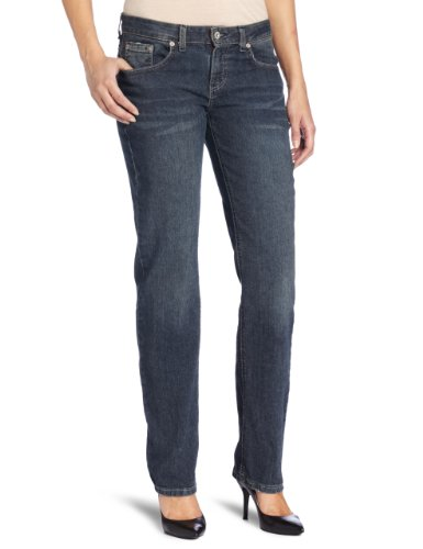 Dickies Women's Relaxed Straight Leg Jean, Antique Dark Indigo, 8 Long