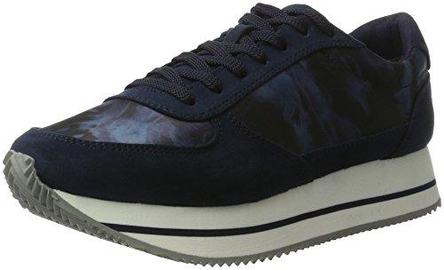 Tamaris 23705, Sneakers Basses Femme, Bleu, 36 EU Bleu (Navy Comb 890)