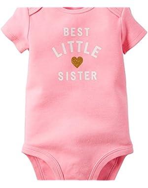 Carters Baby Girls Best Little Sister Bodysuit