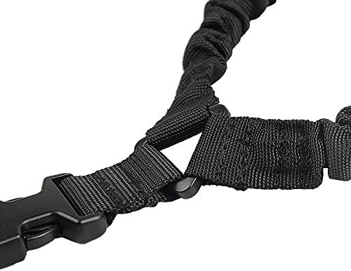 zacheillo Climbing Rope,Single Point Mountaineering Adjustable Sling Strap with Metal Hook,Detachable Shoulder Pad for Outdoors,Safety Accessory Cord