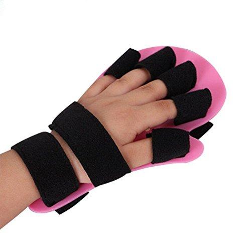 - Child Finger Seperator Kids Hand Wrist Orthosis Splint Separate Children Finger Flex Spasm Extension Board Boy or Girl Polio Rehabilitation Exercise (Pink:1-4 Years Old)