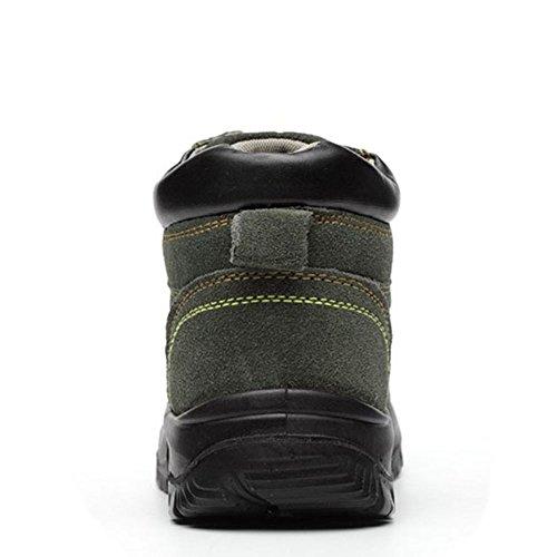 Eclimb Womens Sicurezza Sul Lavoro Scarpe In Acciaio-punta Scarpe Da Ginnastica Verdi 1
