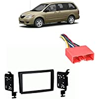Fits Mazda MPV Van 2003-2006 Double DIN Stereo Harness Radio Install Dash Kit