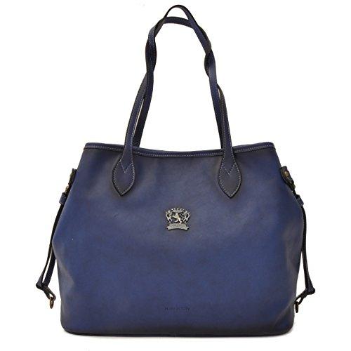 Pratesi - Versilia - B471 Bruce - Sac porté épaule en cuir véritable, bleu (Multicolore) - PR-B471
