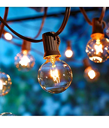 Better Homes and Gardens 20 CT String Lights Clear Glass Globe Outdoor Indoor (Brown Wire) from Better Homes & Gardens