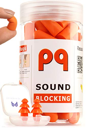 PQ Ear Plugs for Sleep - Earplugs for Sleeping and Traveling - Sound Blocking Level 32 dB - Noise Cancelling for Snoring Working Shooting Studying or Riding