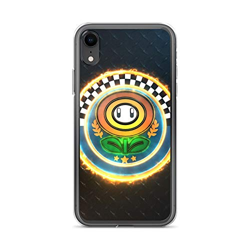 iPhone XR Case Anti-Scratch Gamer Video Game Transparent Cases Cover 3D Flower Cup Emblem Gaming Computer Crystal Clear ()