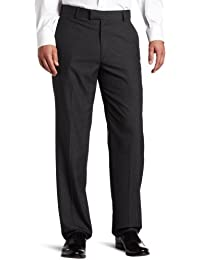 Haggar Men's Textured-Pinstripe Tailored-Fit Plain-Front...