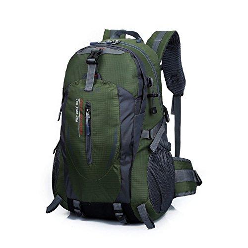 MagiDeal Outdoor Wandern ARMEE Grün Wasserdicht Nylon-Rucksack Rucksack Tasche Camping