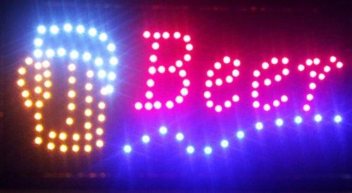 BEER LED FLASHING SIGN