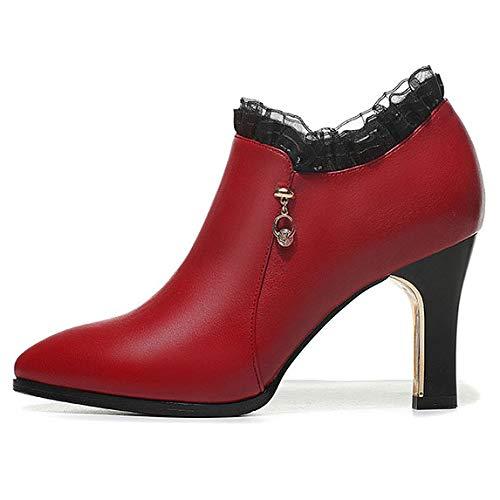 Botas Para Cremallera Red Plataforma Rojo En Negro Alto De Tacón Con Vestir Fiesta Cuero Bodas Color Mujer Zapatos Bombas IPwPUrq