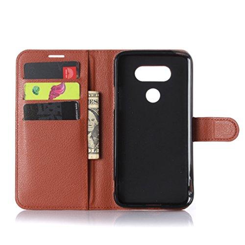 Funda LG G5,Manyip Caja del teléfono del cuero,Protector de Pantalla de Slim Case Estilo Billetera con Ranuras para Tarjetas, Soporte Plegable, Cierre Magnético A